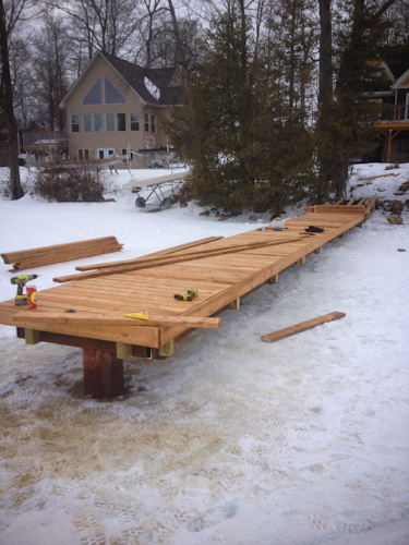 Wood Permanent Dock Systems Orillia, Barrie, Simcoe, Muskoka